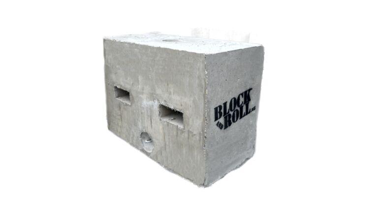 "Picture of a 1750lb ""Half Block"" Block And Roll® Tent Ballast Block"