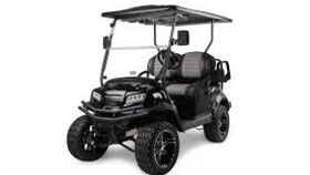 Image of a 4 Passenger Flip-Box Electric Powered Lifted Golf Cart