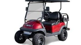 Image of a 4 Passenger Flip-Box Gas Powered Lifted Golf Cart