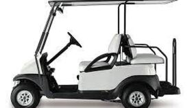 Image of a 4 Passenger Flip-Box Gas Powered Golf Cart