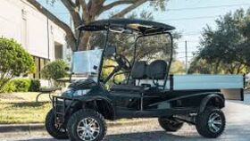 Image of a 2 Passenger Electric Powered 6' Flat Bed Golf Cart