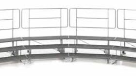 """Image of a 24-32 Person (11'10""""w x 6'4""""d) - 3 Step Standing Choir Riser Package"""