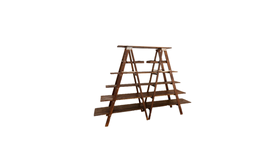Image of a 6' Mahogany Ladder Shelving