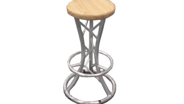 Picture of a Aluminum Barstool And Truss Table Package Rental