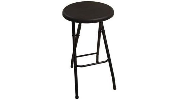 Picture of a Black Metal Folding Barstool Rental