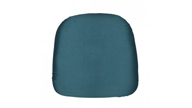 Picture of a Bermuda Blue Nova Solid Chair Pad Cover Rental