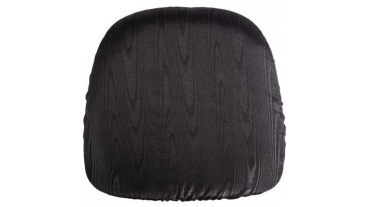 Picture of a Black Bengaline Chair Pad Cover Rental