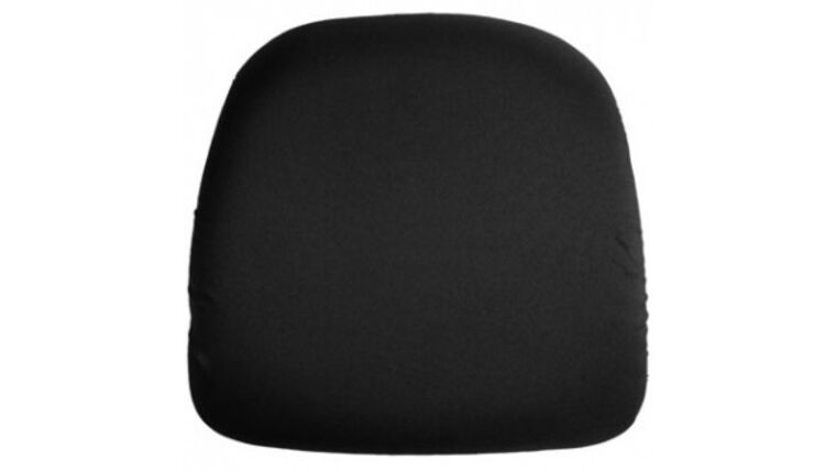 Picture of a Black Chair Pad Cover Rental