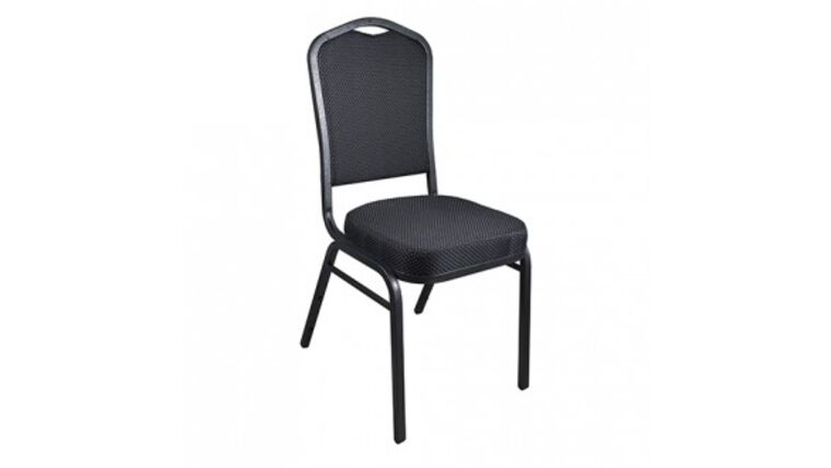 Picture of a Black Metal Banquet Cloth Chair