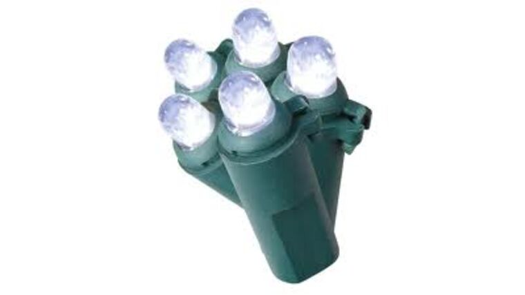 Picture of a 100-Count Green String White LED Dome White Christmas String Lights ENERGY STAR Rental