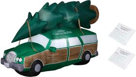 Image of a 8 ft. National Lampoons Christmas Vacation Station Wagon Inflatable with Bonus Repair Patch Kit