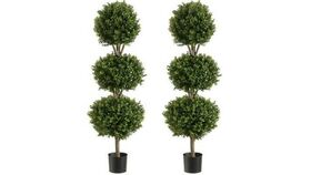 """Image of a 6'3"""" Topiary Ivy 3 Ball w/Light"""