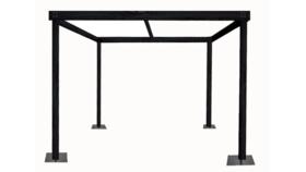 Image of a Cabana - 10 x 10'w x 8'h Black Wood Cabana