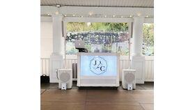 Image of a White LED TV Screen Rolling DJ Booth