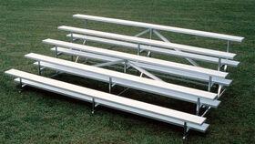 Image of a Bleacher - 5 Row Portable Aluminum Bleacher (Seats 90*) - 27'