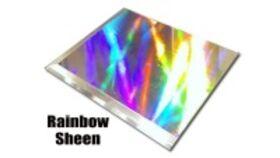 Image of a Gloss Rainbow Sheen Versa Vinyl Dance Floor Piece - 4' x 4'