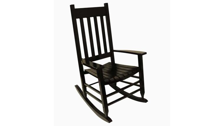Picture of a Black Wooden Rocking Chair Prop