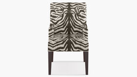Image of a Accent Chair - Modern High-Back - Zebra