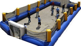 Image of a 10 Person Inflatable Human Foosball Game
