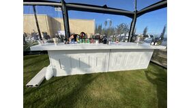 Image of a 12' White 2-Piece Colonial Bar Rental