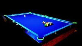 Image of a Billiards/Pool - UV - Glow in the Dark Billiards Table Kit