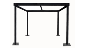 Image of a Cabana - 12 x 12'w x 8'h Black Wood Cabana