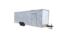 Image of a 24' x 8.5' x 8'H' Enclosed Car Trailer Rental