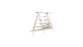Image of a 6' White Ladder Shelving