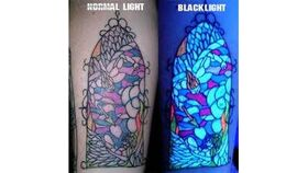 Image of a UV – Glow In The Dark Tattoos Booth