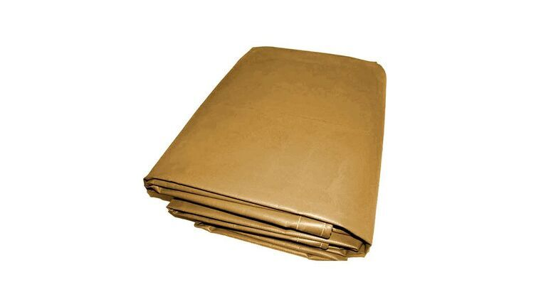 Picture of a 10' x 15' - Tan 22 oz Fire Retardant Vinyl Tarp