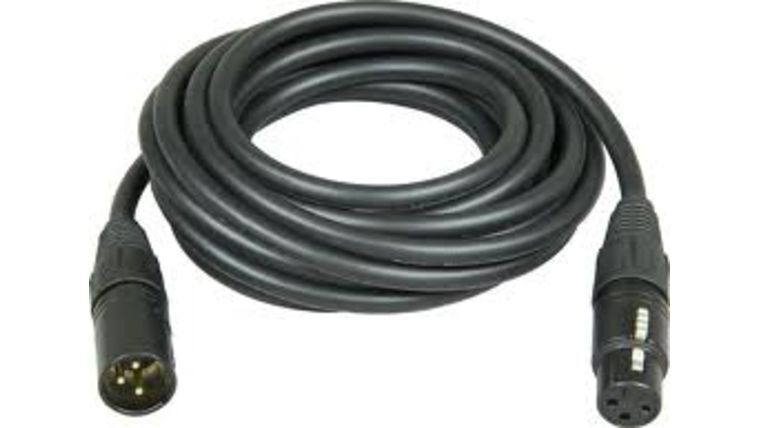 Picture of a 3-Pin DMX Cable 10'