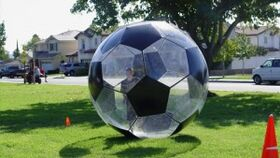 Image of a Inflatable Human Soccer Game