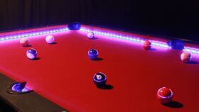 Image of a LED Lit Billiards Game Table