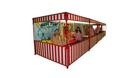 Image of a Flat Top Carnival Booth