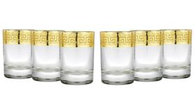 Image of a Gold Rimmed Shot Glasses 2.5 oz for Vodka Shoot