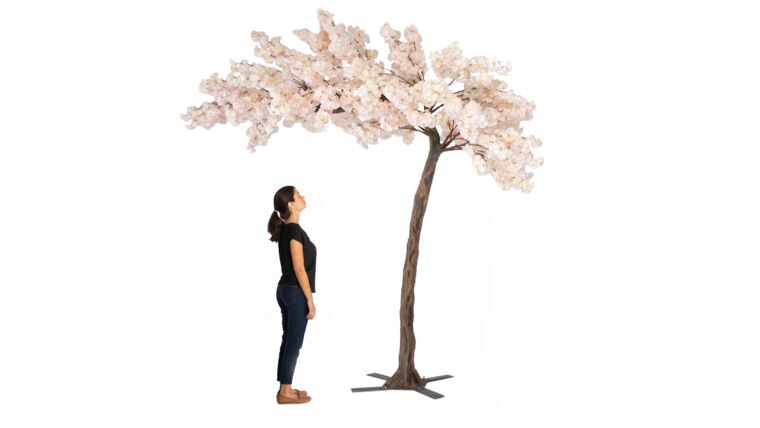 Picture of a 11 FEET TALL GRAND ARCH FAKE CHERRY BLOSSOM TREE - BLUSH/LIGHT PINK