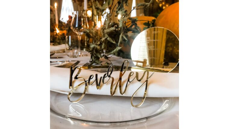 Picture of a Luxury Mirrored Place Names in Gold