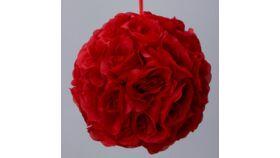 "Image of a ROSE SILK FLOWER BALL 12"""