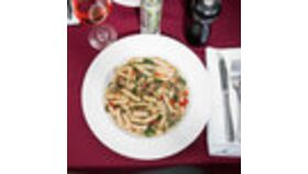 Image of a 16 oz. Bright White Rim China Soup / Pasta Bowl