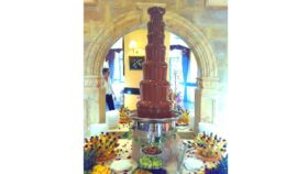 Image of a Full Service Chocolate Fountain Montezuma Package #4