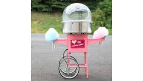 Image of a Cotton Candy Machine with  Stainless Steel Bowl and Cart