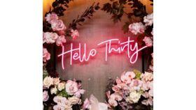 Hello Thirty Led Sign image