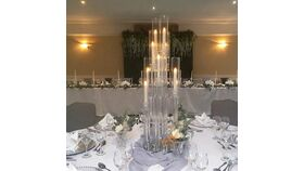 10 Arm Ghost Candelabras wit Chimney Centerpiece 39.9 Inches Height image