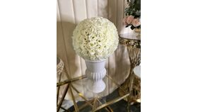 Image of a Ivory Flower Balls 16""