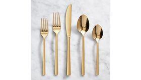 Image of a Elegant Gold Dessert Fork