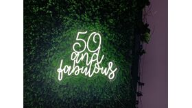 Image of a 50 and Fabulous LED Sign