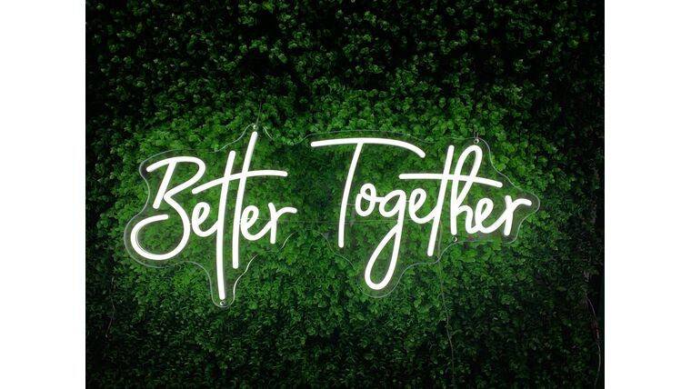 Picture of a Better Together LED Sign