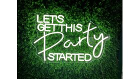 Image of a Let's Get This Party Started LED Sign