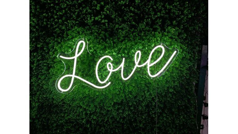 Picture of a LOVE LED Sign