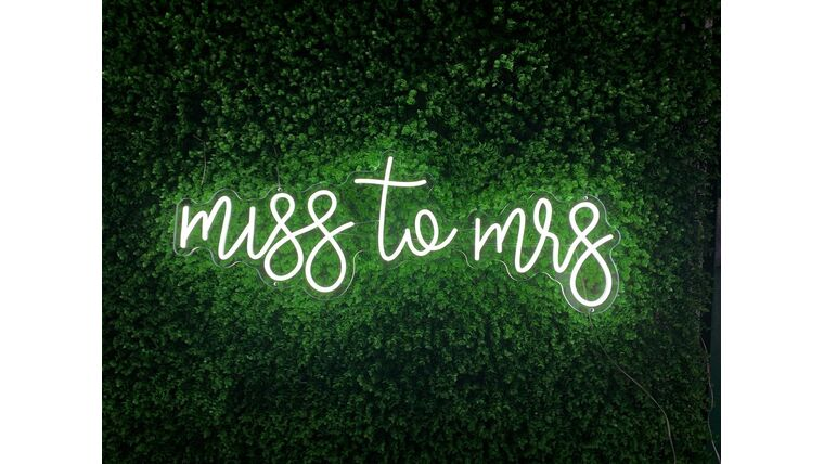 Picture of a Miss to Mrs LED Sign
